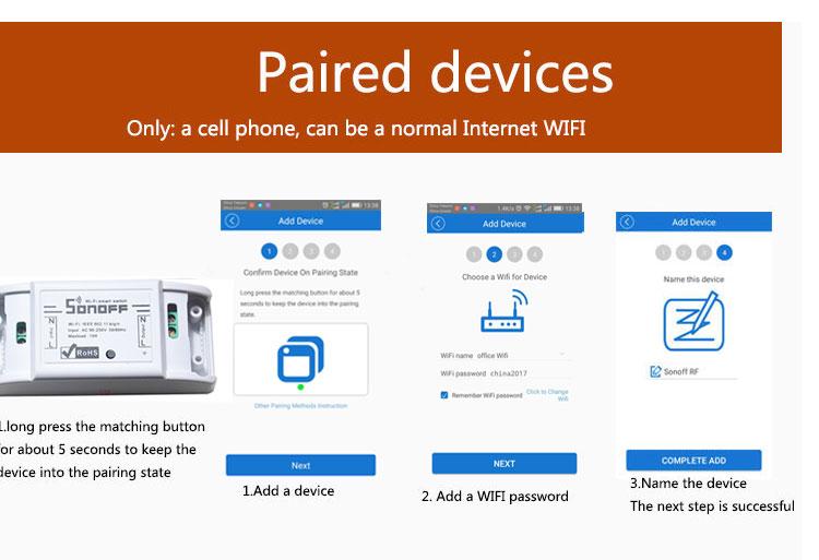 Sonoff Moduł Automatyki Inteligentnego Domu Wifi Przełącznik Uniwersalny Zegar Diy Przełącznika Bezprzewodowego Pilota zdalnego sterowania Poprzez IOS Android 10A/2200 W 10