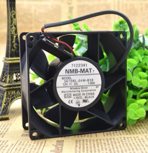 Original NMB 3615RL-04W-B39 12V 1.06A 92*92*38MM three line axial flow fan