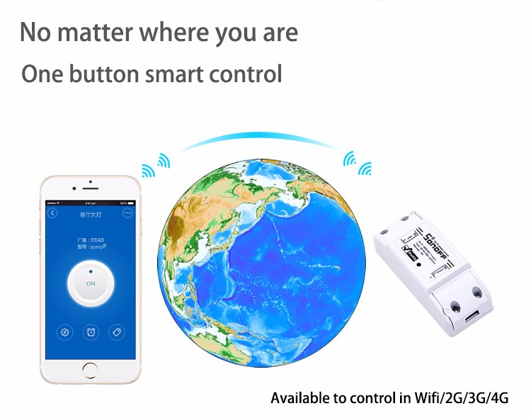 Itead Sonoff Inteligentny Wifi Przełącznik Czasowy Inteligentny Uniwersalny Bezprzewodowy Przełącznik DIY MQTT COAP Android IOS Zdalnego Sterowania Inteligentnego Domu 4