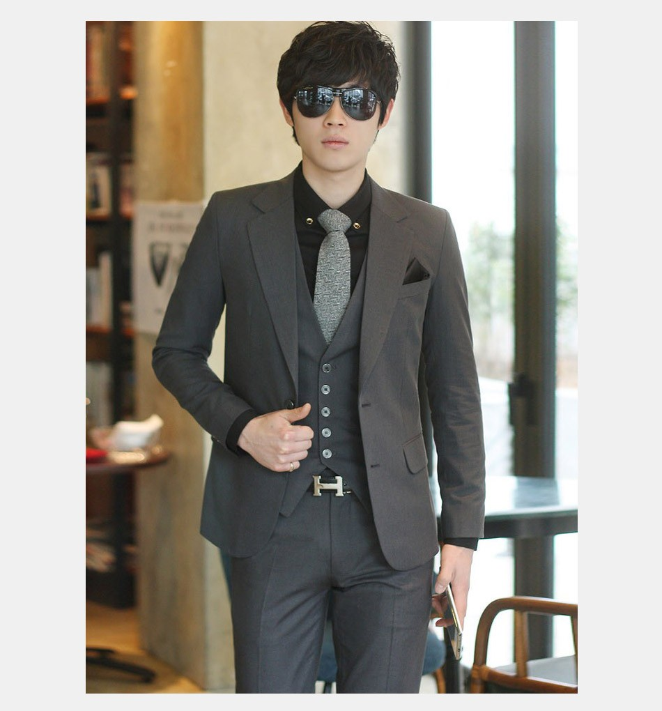 (Kurtka + Spodnie + Tie) luksusowe Mężczyzn Garnitur Mężczyzna Blazers Slim Fit Garnitury Ślubne Dla Mężczyzn Kostium Biznes Formalne Party Niebieski Klasycznej Czerni 21