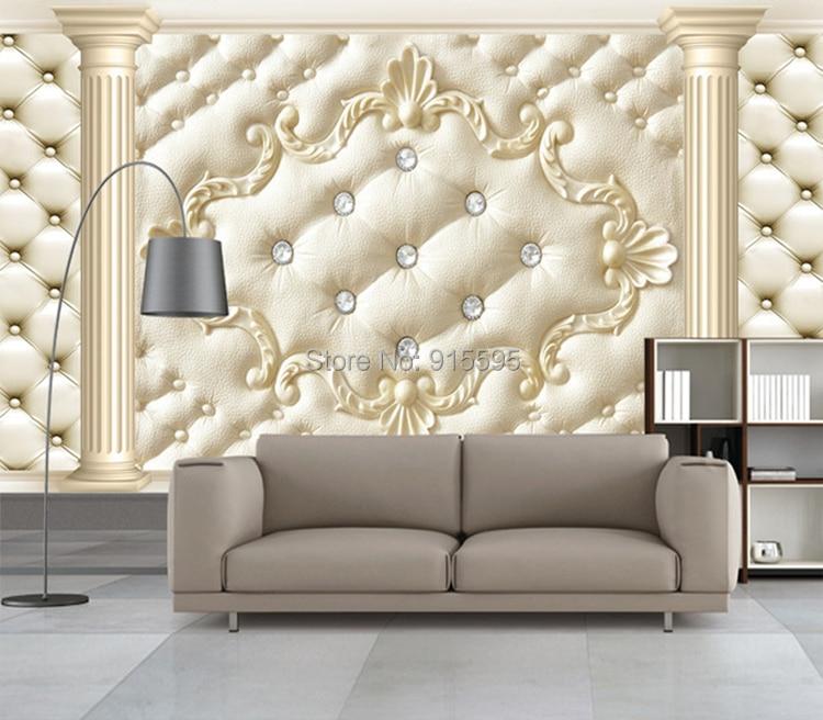 Europejski styl roman kolumna miękkie opakowanie stereoskopowe 3d niestandardowy mural tapety salonie kanapa włókniny tv tło tapety 11