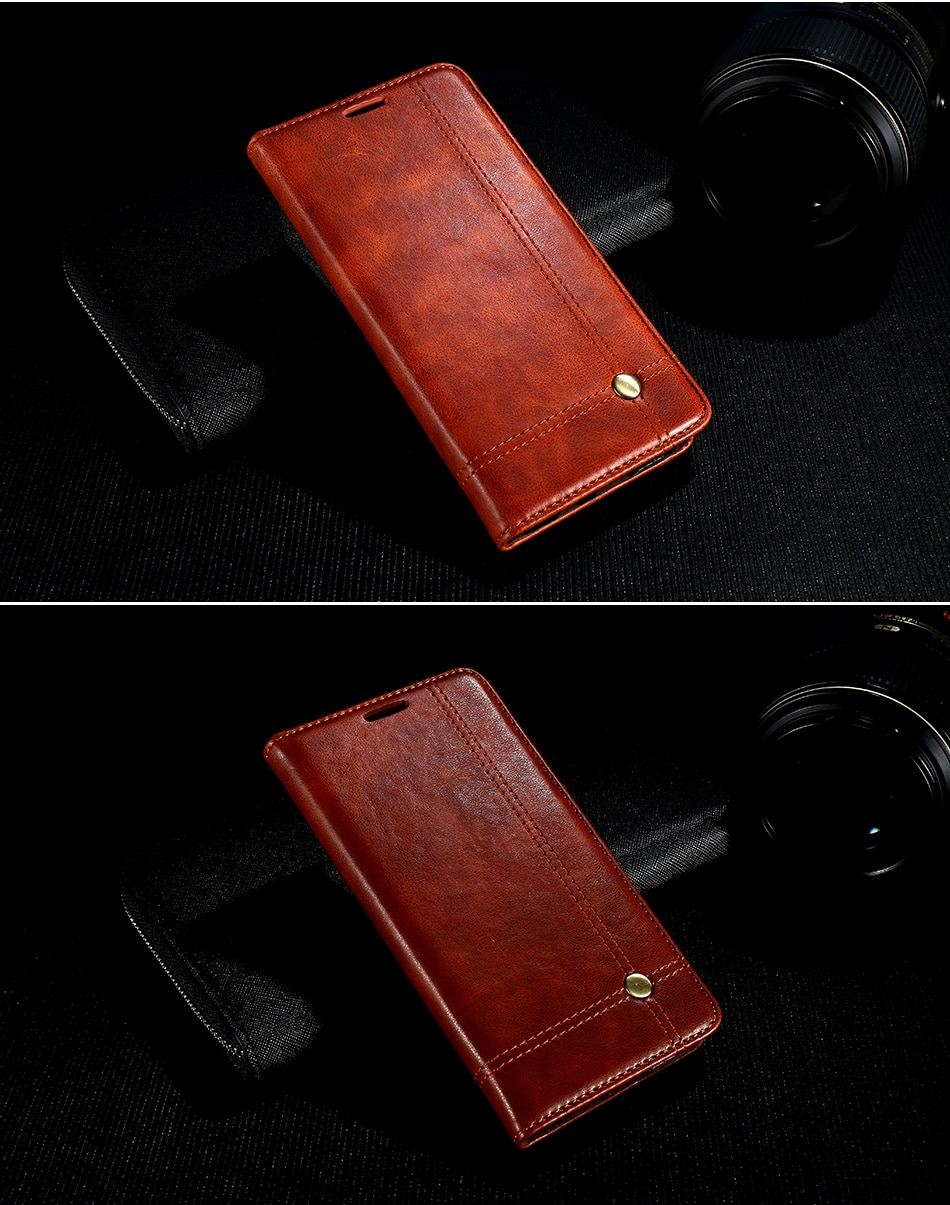 Deluxe floveme szlachetni mężczyźni skóra case dla iphone 6 plus 6s portfel pokrywa luksusowa brązowy odwróć kabura dla iphone 7 plus torby 11