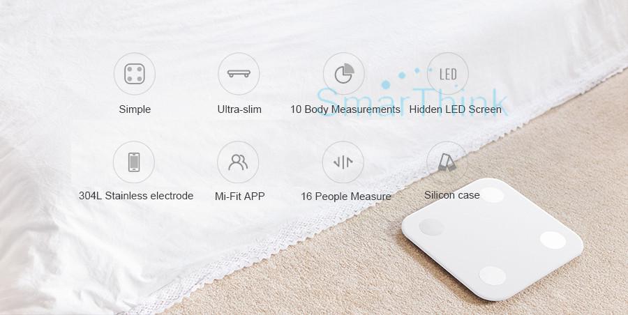 Nowy Oryginalny Xiaomi Mi Inteligentne Skala Tkanki Tłuszczowej Z Mifit APP i Składu ciała Monitor Z Ukrytym Wyświetlacz LED I Duże Stopy Pad 6