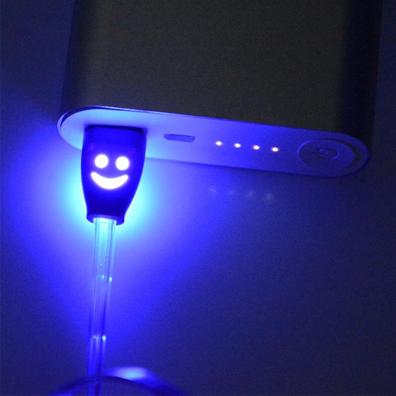 1 m noc światła led uniwersalny dla błyskawicy micro usb cable ładowarka złącze usb do ładowania danych sync dla iphone 7 ipad android 3