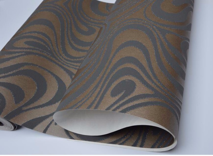 Wysokiej jakości 0.7 m * 8.4 m nowoczesny luksus 3d tapety rolki mural papel de parede uciekają na paski ściany papier 5 kolor r136 14