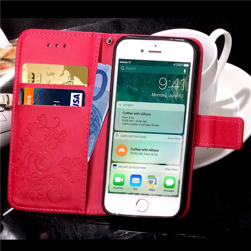Dla iphone 7 plus 4S 5S 4 5 6 s skórzane etui z klapką case do samsung galaxy a3 a5 j3 j5 2016 j1 s6 s7 s3 s4 s5 mini grand prime pokrywa 38