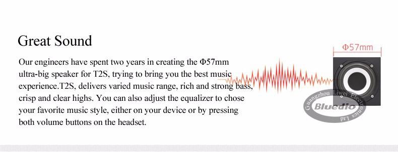 Bluedio t2s (brake fotografowania) słuchawki stereofoniczne słuchawki bezprzewodowe bluetooth 4.1 zestaw słuchawkowy bluetooth nad słuchawek dousznych 4