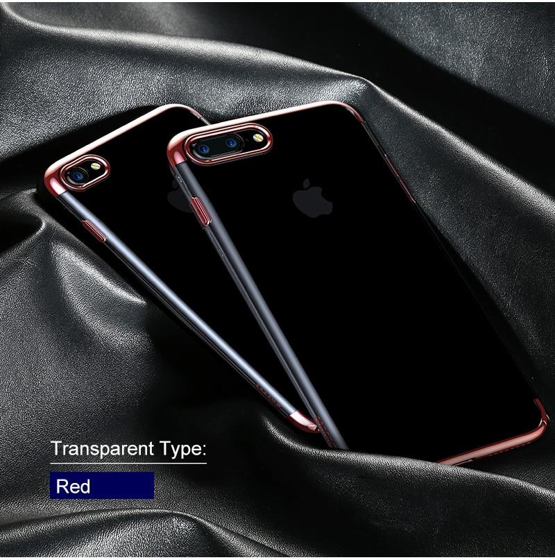 Baseus pc hard case dla iphone 7 pokrywa dla iphone 7 plus case anti-scratch galwanizacja telefon torba ochronna shell coque 15