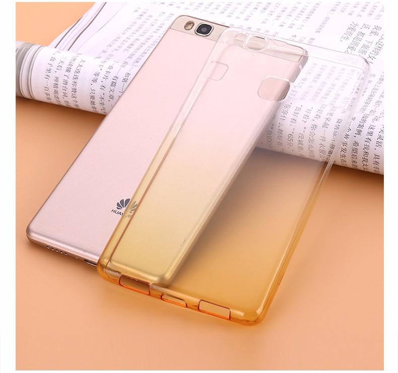 Ultra-cienki przezroczysty miękka tpu case dla huawei p8 p9 plus p8 lite krzemu gradientu telefon ochronna pokrywa dla huawei p9 Shell 16