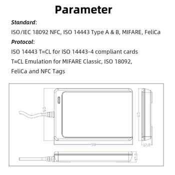 NFC ACR122U RFID smart card Reader Writer Copier Duplicator writable