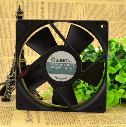 Original genuine SUNON KDE2412PTB1-6A DC24V 6.0W 120*120*25 MM fan