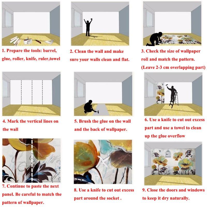 Niestandardowe zdjęcia tapety stereoskopowe 3d europejskiej duszpasterska włókniny mural sypialnia salon tło wystrój domu tapety 21