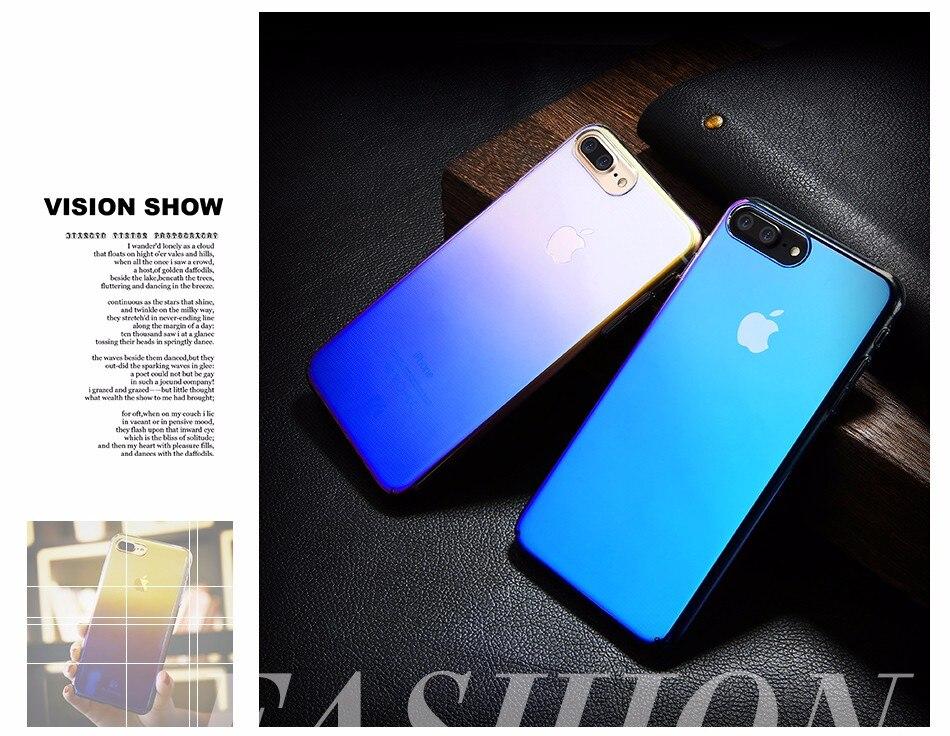 Floveme niebieski ray gradientu przypadki telefonów dla iphone 5 5s se 6 7 6 s plus case do samsung s8 s6 s7 pokrywa dla xiaomi redmi 4 mi5 krawędzi 7