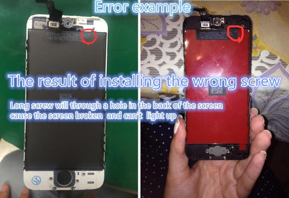 Sprzedaż fabryki lcd dla iphone 5 iphone 5c iphone 5s ekran Wyświetlacza Część Szklany Panel Dotykowy Digitizer Zgromadzenie Kompletna Narzędzia ekran 17