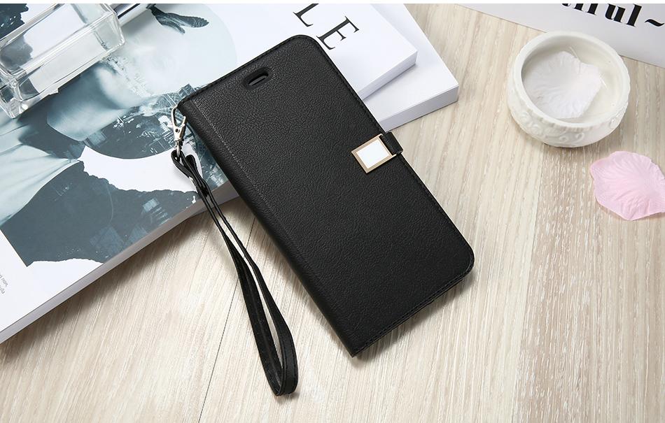Kisscase candy kolor skóry case dla iphone 7 7 plus odwróć karty portfel slot case pokrywa dla iphone 6 6s plus 5S 5c 4S z logo 14