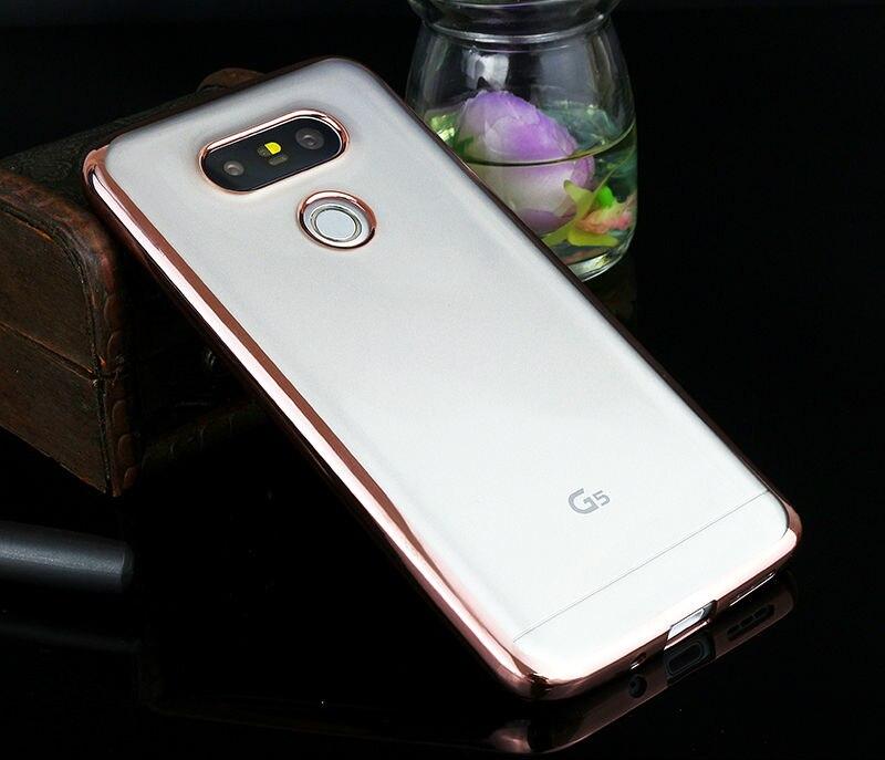 Sprawa silikonowy Do LG G4 G5 K5 K10 Pokrywa Przezroczysty Poszycia Złota Ultra Thin Miękkie Wyczyść Back Cover Dla LG G4 G5 K5 K10 Coque 11