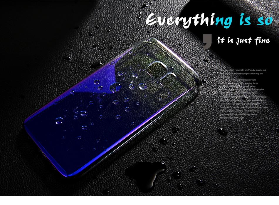 Floveme cool blue ray plastic case do samsung galaxy s7 s8 s6 S7 s8 Plus Krawędzi Gradient Kolor Platerowane Pokrywa Powrót Ochronna Shell 1