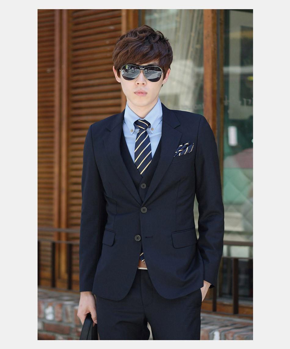 (Kurtka + Spodnie + Tie) luksusowe Mężczyzn Garnitur Mężczyzna Blazers Slim Fit Garnitury Ślubne Dla Mężczyzn Kostium Biznes Formalne Party Niebieski Klasycznej Czerni 19