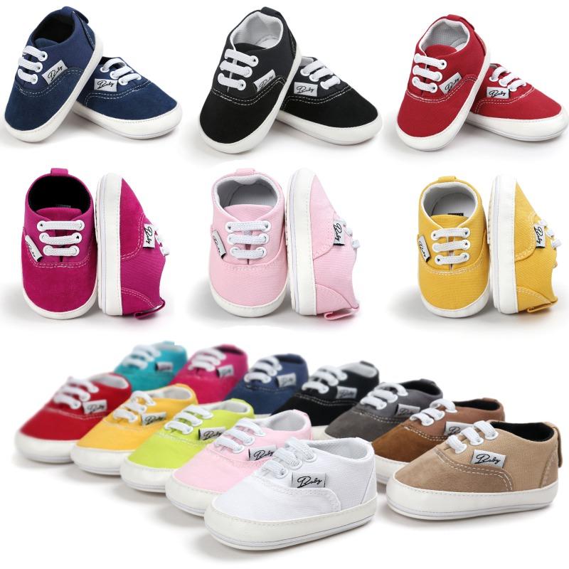 Wiosna Jesień Dziecko Noworodka Dziewczynka Chłopiec Miękkie Podeszwy antypoślizgowe Maluch Prewalker Niemowląt Sneaker Buty Na Co Dzień 4