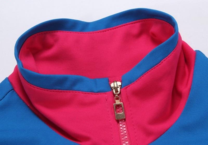 Tlzc stójka lady popular sportswear 2 sztuk zestaw żakiet + spodni plus rozmiar l-5xl patchwork styl kobiety casual dresy 2
