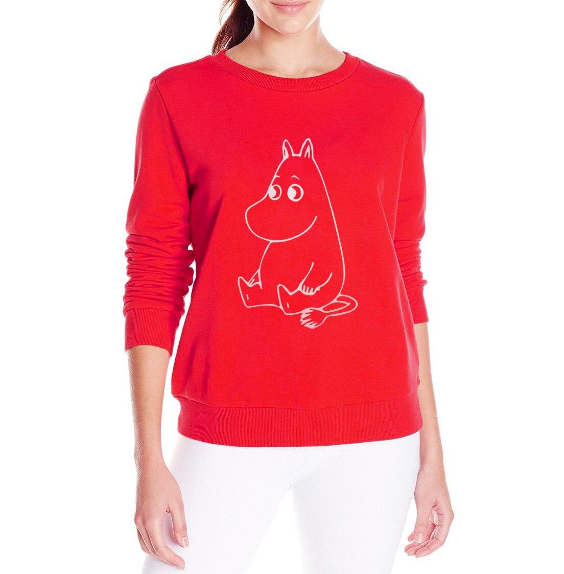 MUMINKI Kawaii Cartoon Wydrukowano bluza Kobiety bluzy z kapturem z polaru Śmieszne Przypadkowa kobieta swetry 2017 harajuku hip-hop marki dres 6