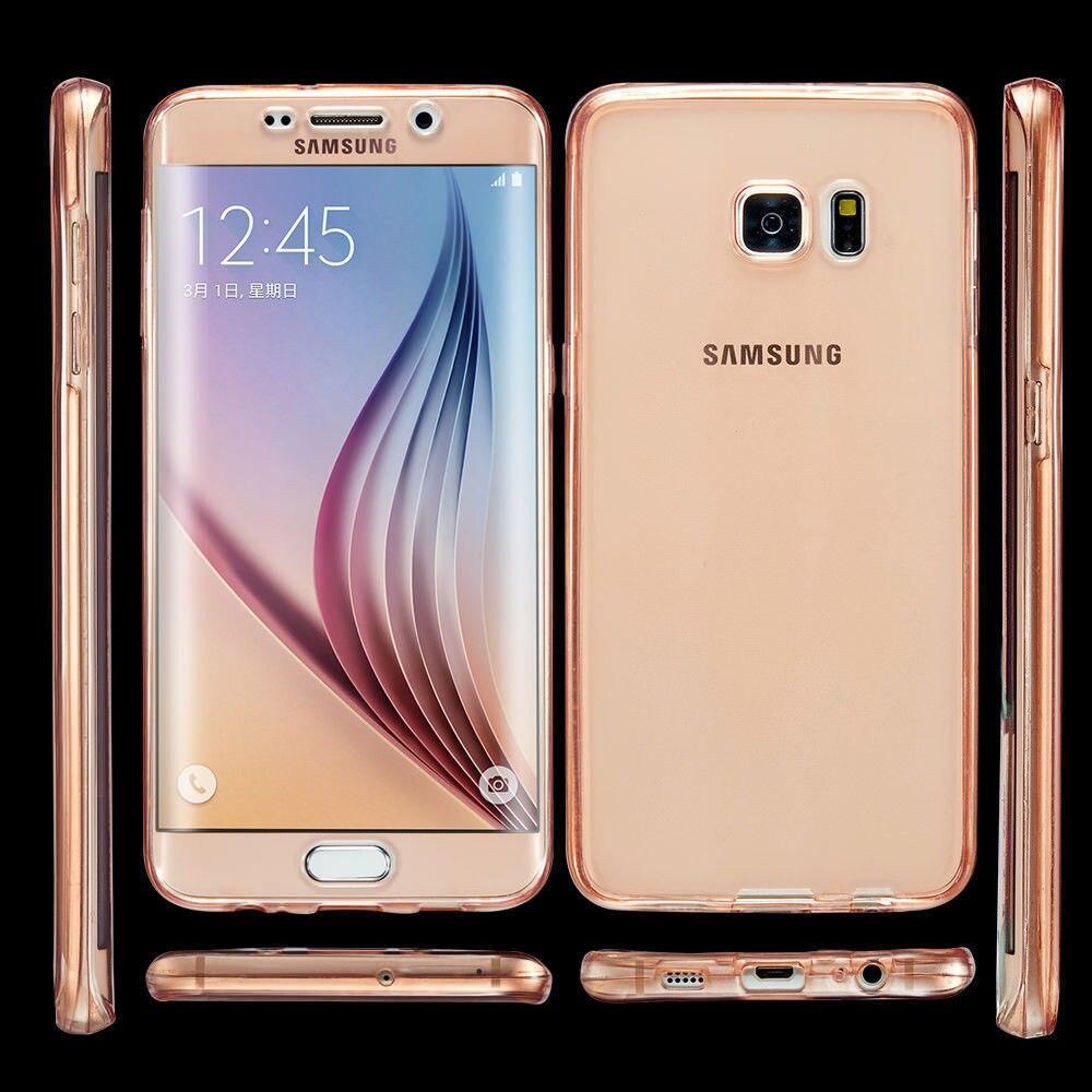 360 pełna tpu pokrywa dla samsung galaxy s7 edge case a3 a5 2017 case dla uwaga 5 s6 j5 j7 2016 pokrywa miękkie ochronne wyczyść case 8
