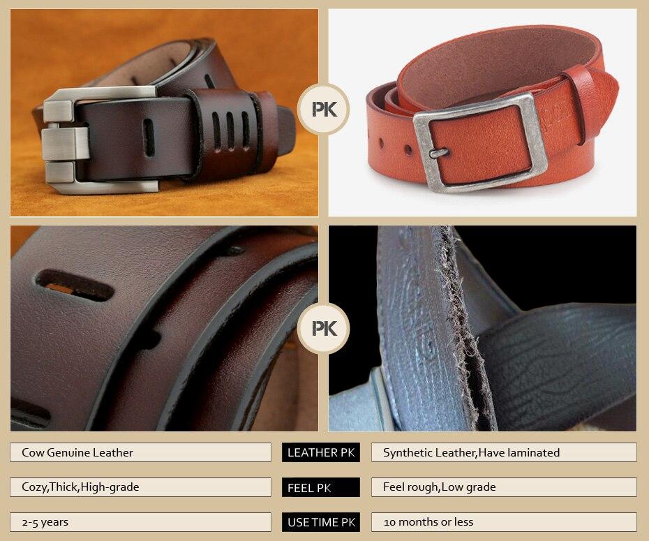 [Miluota] pasy designer mężczyźni wysokiej jakości prawdziwy skórzany pas dla mężczyzn luksusowe ceinture homme military style 130 cm mu012 5