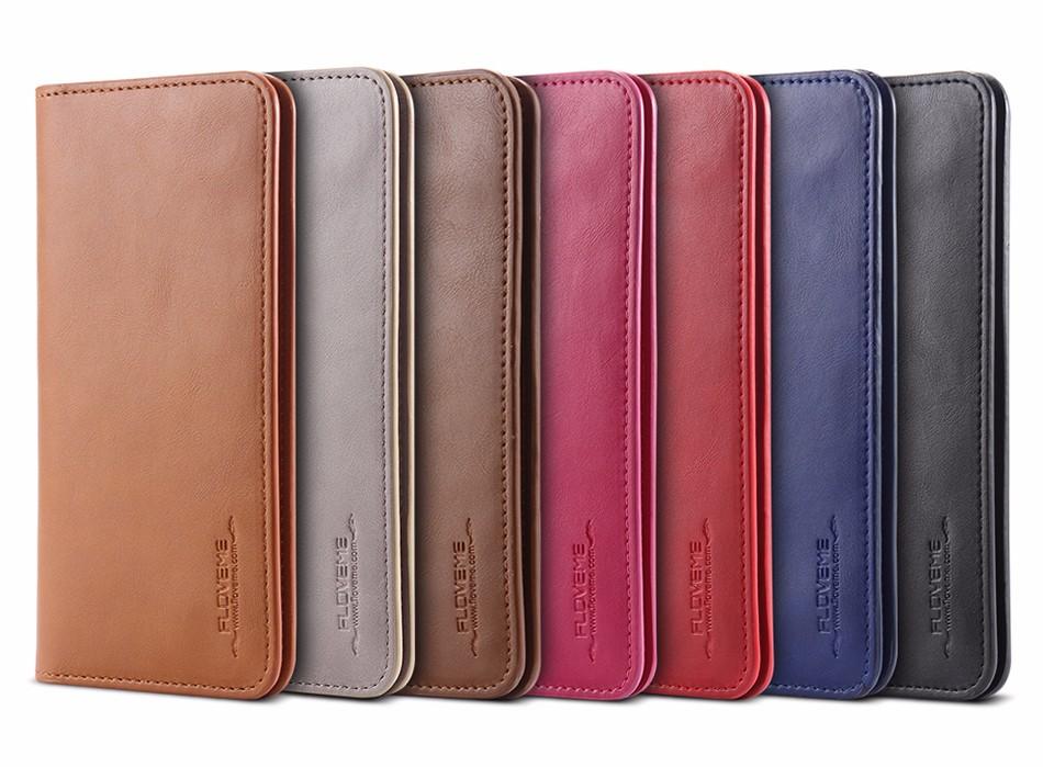 Floveme luksusowe retro skórzany portfel torby phone case do samsung s7 s6 s5 dla iphone 7 6 6 s plus se 5S 5 miękka pokrywa torebka marki 16