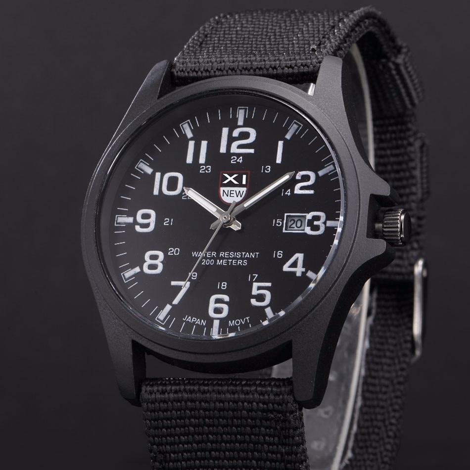 Fantastyczny xinew luksusowe boisko sportowe mężczyzna zegarka kalendarz data mens steel analogowe kwarcowy zegarek wojskowy erkek relogioi kol saat 20