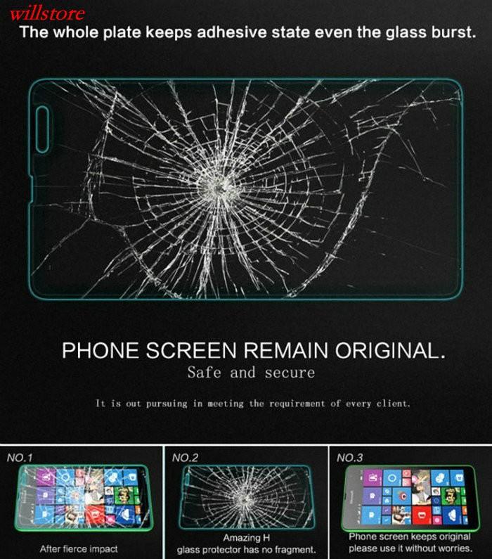 Szkło hartowane Screen Protector for Microsoft Nokia Lumia 430 435 532 540 550 640 XL 650 1020 1320 1520 950 X X2 XL SZKŁA Film 4