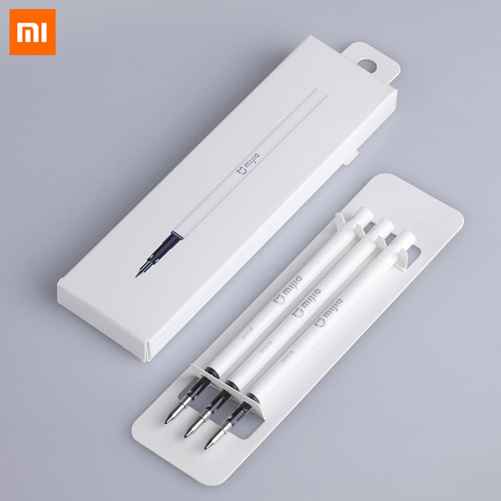 Oryginalny Xiaomi Podpisanie Pen PREMEC Mijia Znak Pióra 9.5mm Smooth Szwajcaria MiKuni Japonia Ink Refill dodać Mijia Długopis Czarny napełniania 5