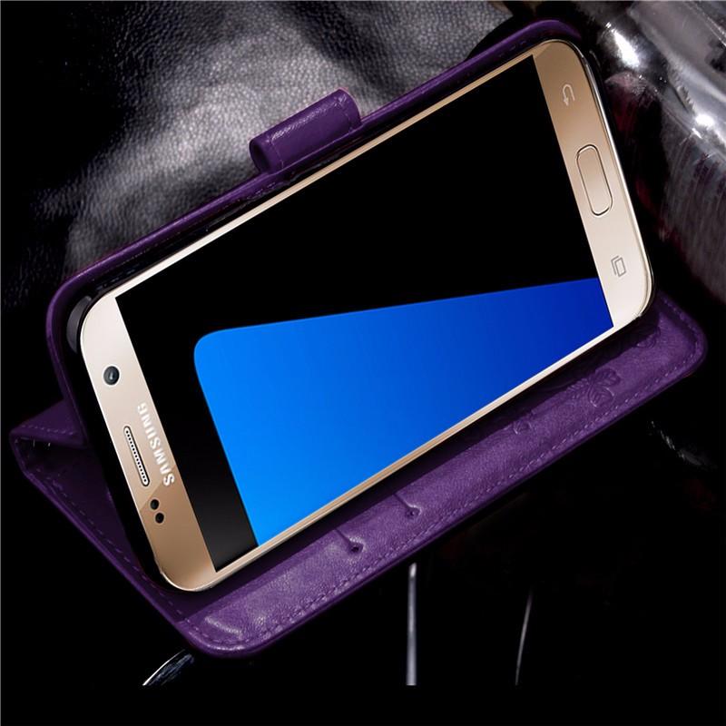 Dla iphone 7 plus 4S 5S 4 5 6 s skórzane etui z klapką case do samsung galaxy a3 a5 j3 j5 2016 j1 s6 s7 s3 s4 s5 mini grand prime pokrywa 58