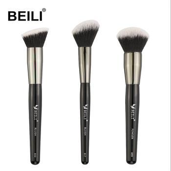 High Quality Small Brush Kit Black Powder Blush Foundation Synthetic