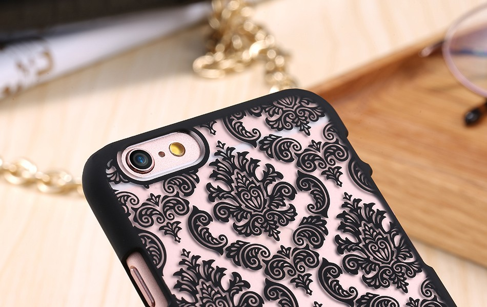 Kisscase retro elegancki wzór case dla iphone 6 6s plus samsung galaxy s7 edge s6 krawędzi uwaga 4 5 samsung e5 e7 a3 a5 a7 a8 j5 j7 19