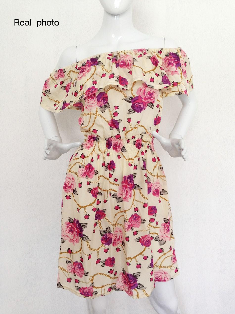 2017 fashion nowa wiosna lato plus size odzież kobiet floral print wzór sukienki na co dzień vestidos wc0472 22