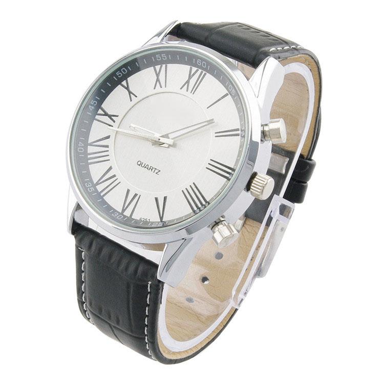 Ludzie Biznesu Kwarcowy Zegarek 2017 mężczyzna Elegancki Pu Leather Military Zegarki Sportowe Męskie Casual Analogowe Wrist Watch Relogio Masculino 4