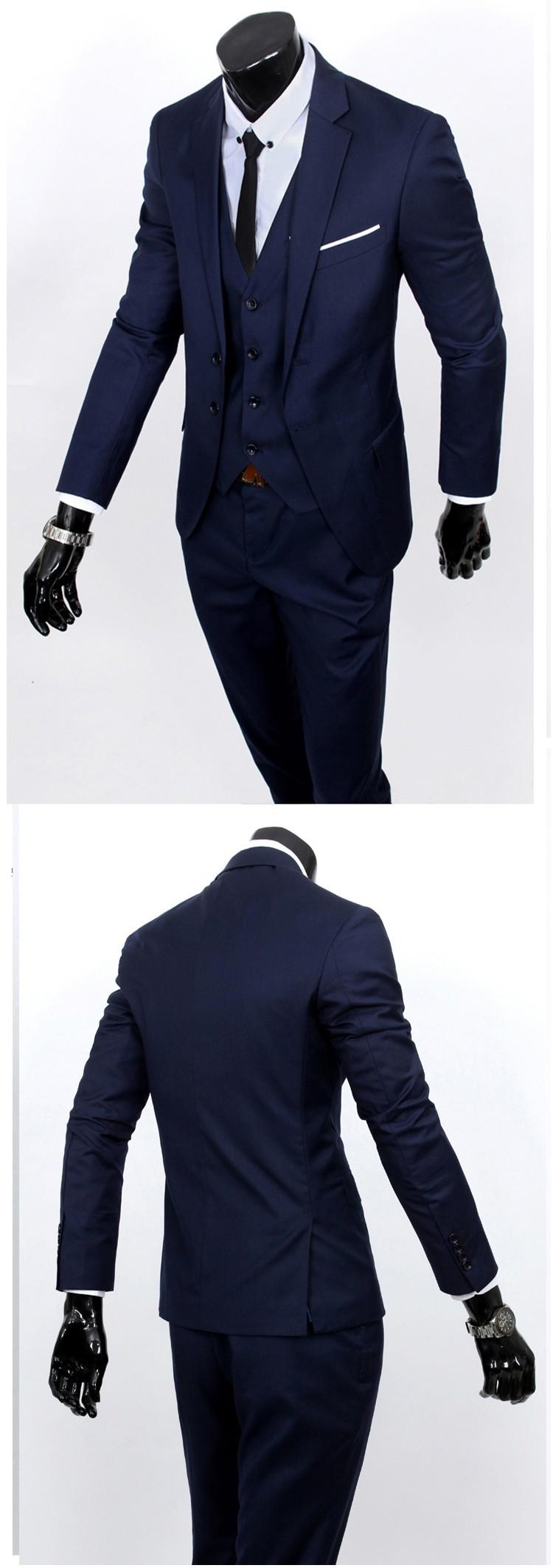 (Kurtka + kamizelka + spodnie) 2017 Nowa wiosna marka koszulka Męska slim fit Firm a trzyczęściowe Garnitury/Męskie dobrej groom dress/mężczyźni Blazers 36