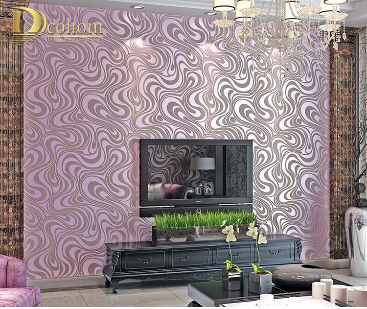 Wysokiej jakości 0.7 m * 8.4 m nowoczesny luksus 3d tapety rolki mural papel de parede uciekają na paski ściany papier 5 kolor r136 25