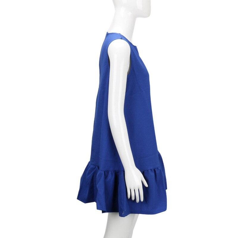 2017 damska vestidos sexy ruffles dress lato casual linia bez rękawów bodycon dress kobiety party plus rozmiar krótki mini suknie 14