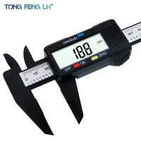TONGFENGLH 150 мм 6 дюймов ЖК-дисплей цифровые электронные углеродного волокна штангенциркуль датчик микрометр
