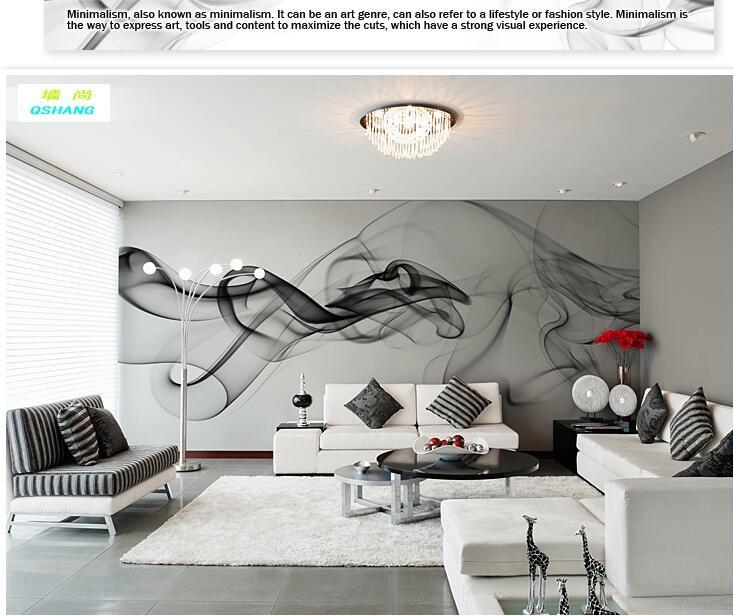 Niestandardowe 3D fototapety Dymu chmury streszczenie artystyczny fototapeta tapeta nowoczesna minimalistyczna sypialnia sofa TV obraz papier 5
