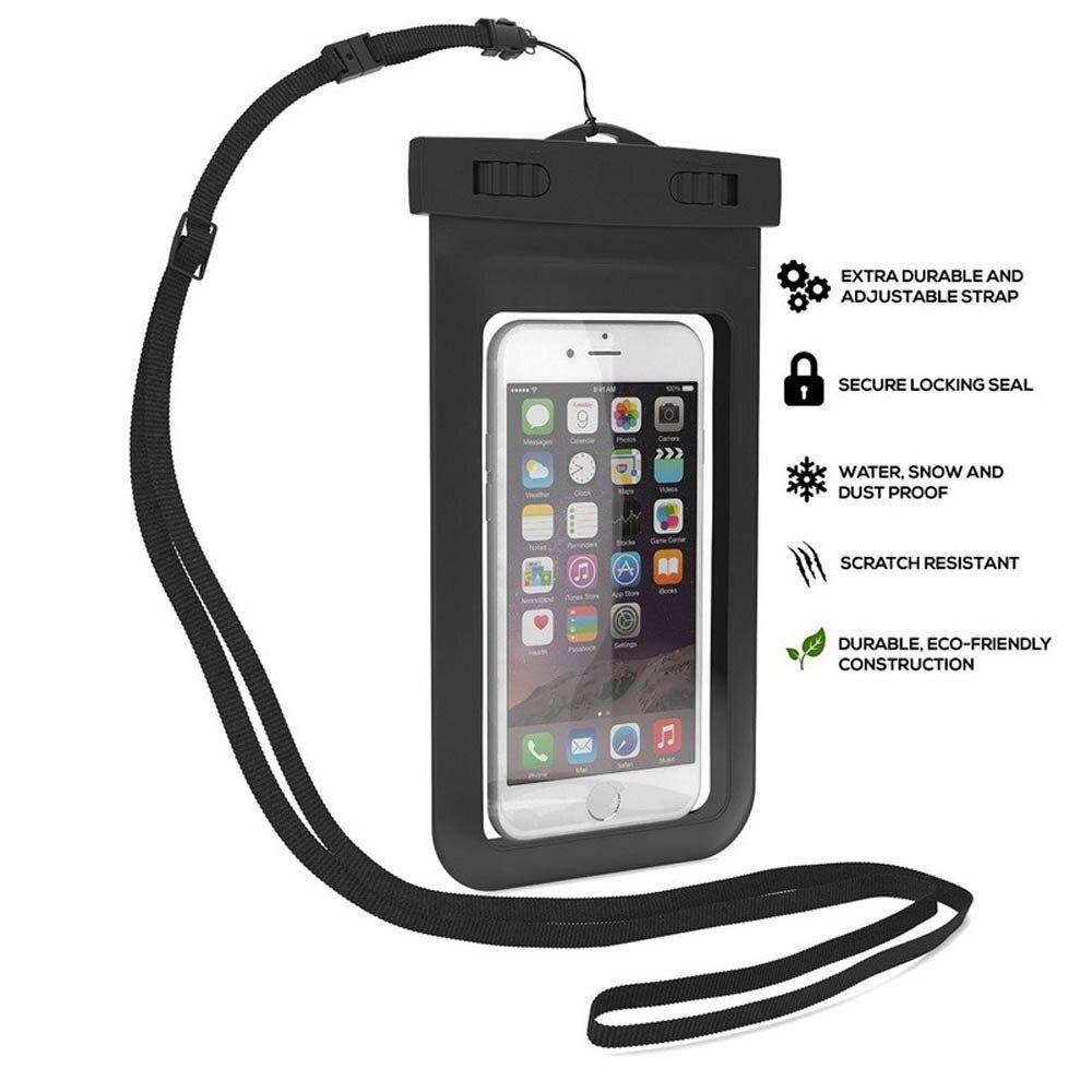 100% uszczelnione wodoodporna torba case pokrowiec etui na telefony dla iphone 7 6 6 s plus 5S samsung galaxy s7 s6 s5 s4 krawędzi plus mobilnej telefony 3