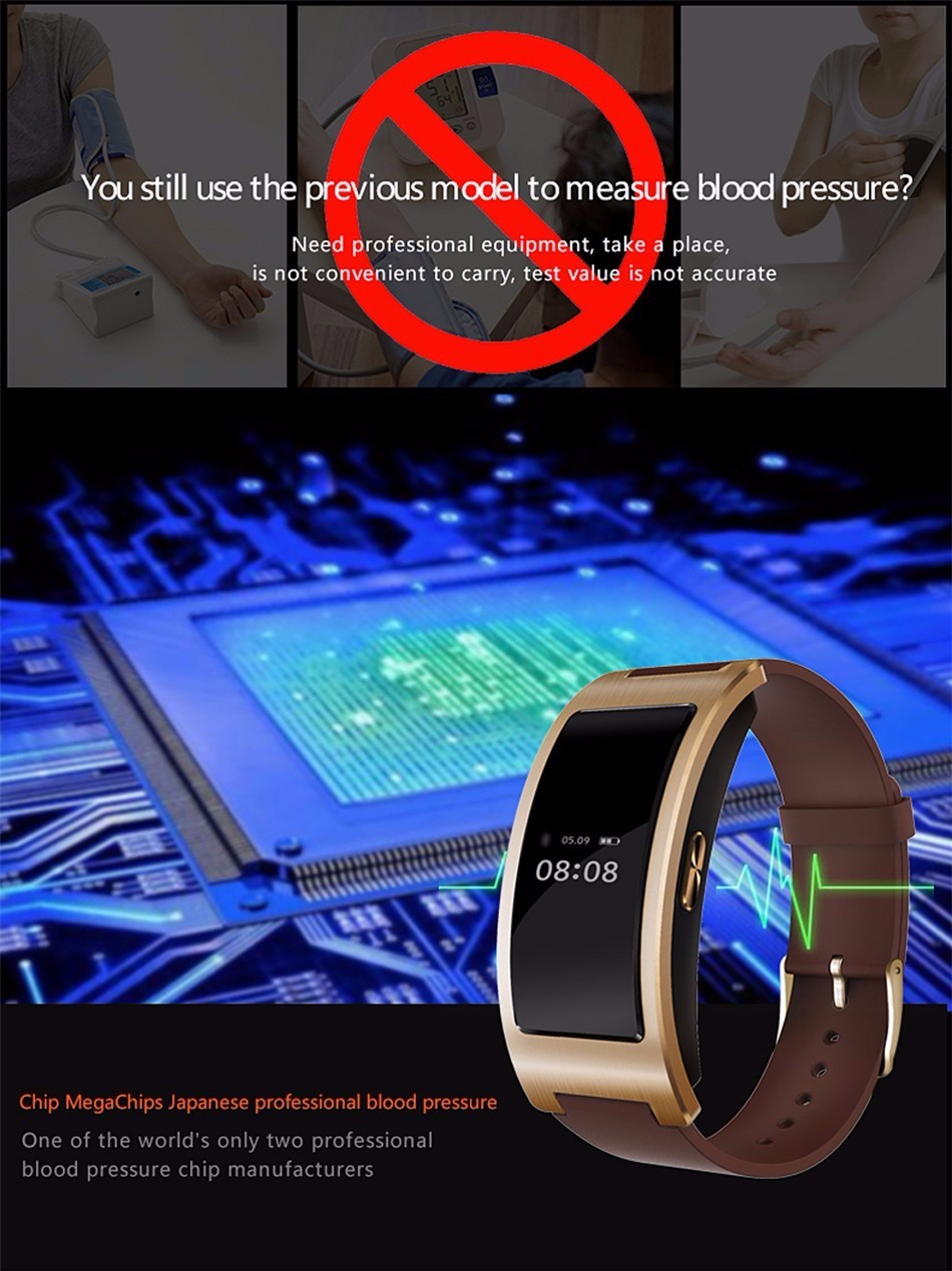 Bluetooth smart watch bransoletka zespołu blood pressure monitor tętna ck11 smartwatch krokomierz fitness dla ios android 3