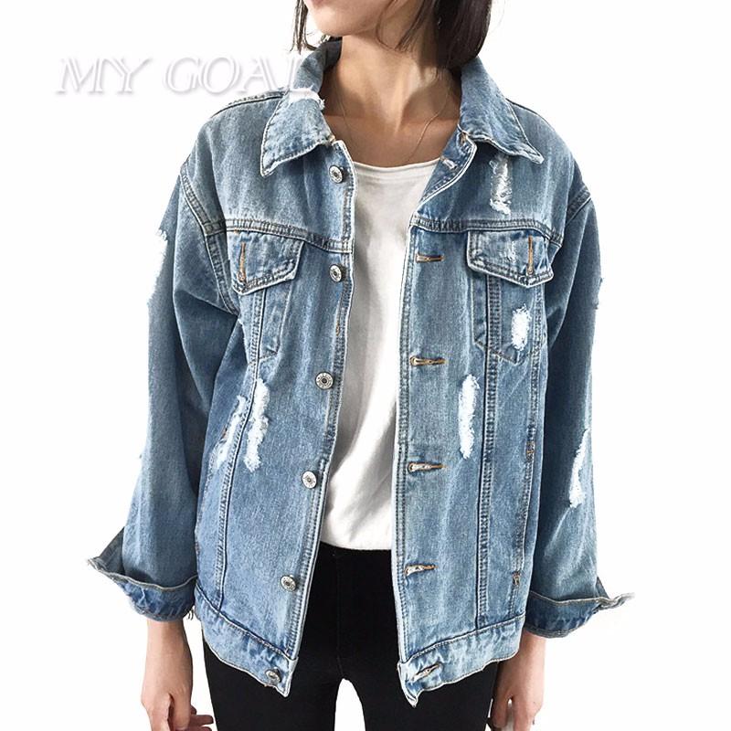 Kobiety Podstawowe Płaszcze Jesienne I Zimowe Kobiet Kurtka Dżinsowa Rocznika Z Długim Rękawem Luźne Kobiet Jeans Płaszcz Casual Dziewczyny Znosić 3