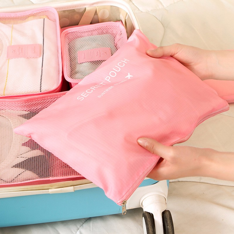 - HTB1InSPOXXXXXbDXXXXq6xXFXXXS - 6-Pieces Travel Bag Organizer Set.