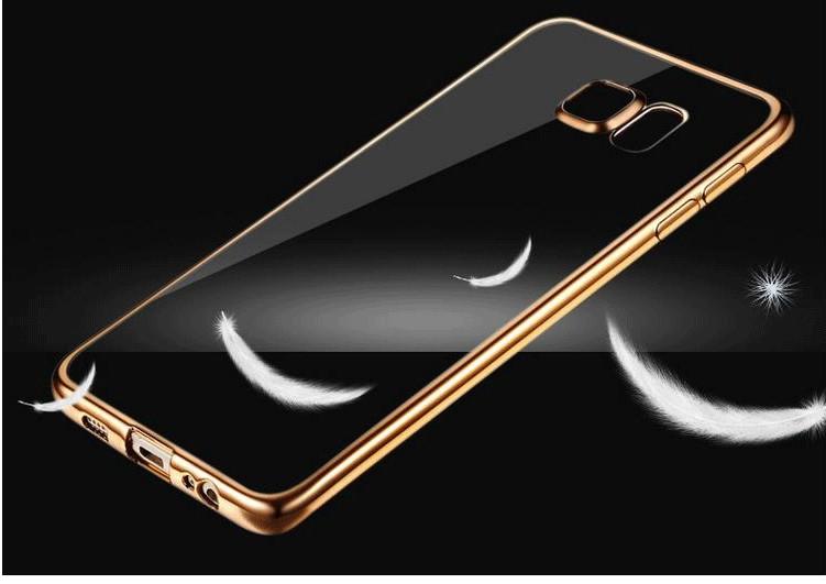 Coque dla samsung galaxy s6 edge s6 s7 s7 edge case wyczyść przezroczysty złocenie miękka tpu back cover dla samsung s6 edge case 10