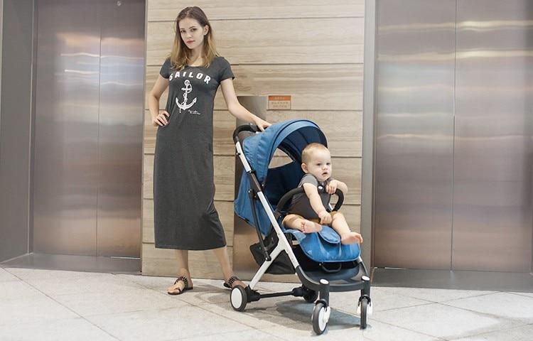 YOYA PLUS wózków dziecięcych ultra lekkie składane mogą usiąść może leżeć wysokiej krajobrazu parasol wózek dla dziecka latem i zimą 11