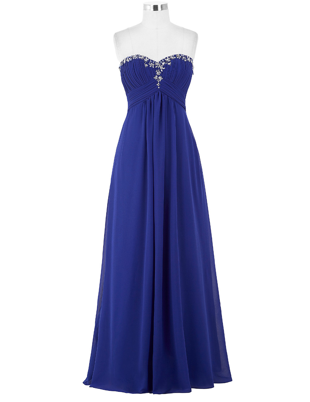 Lavender Green Royal Blue Long Chiffon Bridesmaid Dress 7