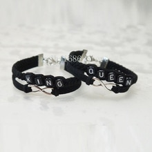 King Queen Parejas Pulseras hechas a mano, infinito Amor ¡ pulsera, His and Hers