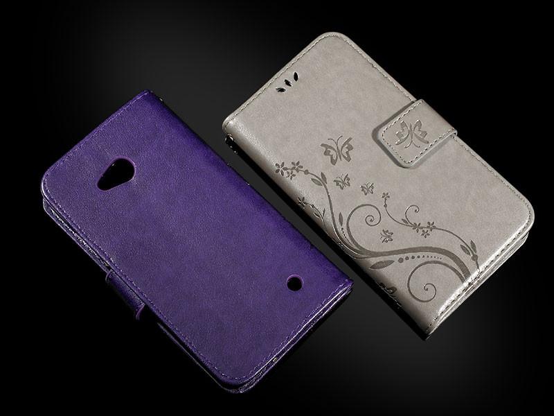 Dla microsoft nokia lumia 640 lumia 630 lumia 550 worek nadrukowane butterfly pu wizytownik skórzany telefon okładka case shell 10